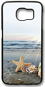 Beach Sunrise Samsung Galaxy S6 Protector Design Charming Cover Case, Galaxy S6 Hard Shell Black Cover Cases by iCustomonline (Not Fit for Galaxy S6 Edge)