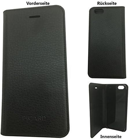 Picard iPhone 6S y 6 Teléfono Móvil Negro Flip Carcasa Funda De ...