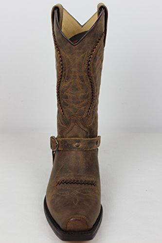 Dunn´s Bikerstiefel Lederfett braun Cowboystiefel Boots in Stiefel incl Roy 3434 Stiefelknecht und Sendra Motorradstiefel qn1WHPvFE