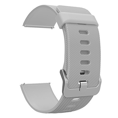 Fitbit Blaze Accessories Classic Band Small, UMTele Soft Silicone Replacement Sport Strap Band with Quick Release Pins for Fitbit Blaze Smart Fitness Watch Gray, Frame Not Included (5.5''-6.7'') by UMTele