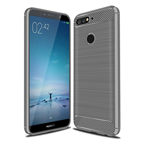 TOTOOSE Huawei Honor 7A (Premium Edition) Case, Drop Protection Back Shell Anti-scratch Shockproof Rubber Bumper Protective Defender Case Cover for Huawei Honor 7A (Premium Edition) Grey