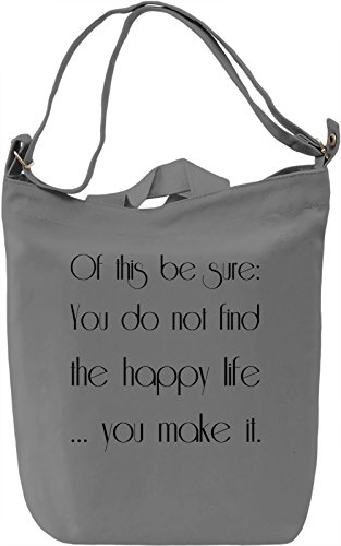 Make happines Borsa Giornaliera Canvas Canvas Day Bag| 100% Premium Cotton Canvas| DTG Printing|