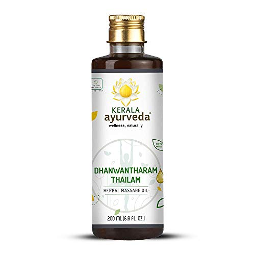 Kerala Ayurveda Dhanwantharam Thailam – Ayurvedic Massage Oil for Vata & Post Natal Care – Strengthens Joints, Soothes…