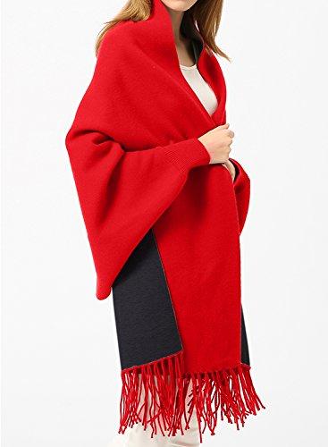 Futurino - Chaqueta - para mujer rojo y negro