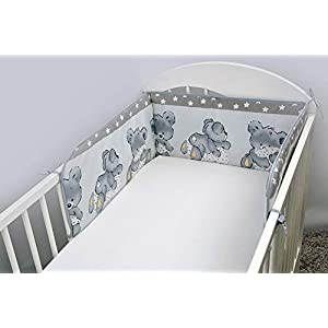 5 Piece Baby Children Bedding Set to Fit 120×60 or 140×70 cm Toddler Cot Bed (to fit 140 x 70 cm Cot Bed, 27)