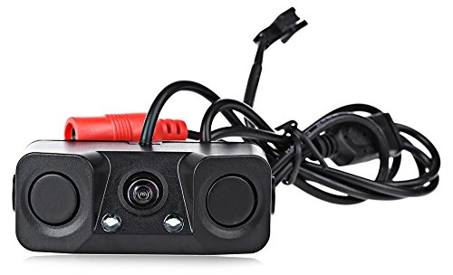 Camecho Car Rear View Camera with Radar Parking Sensor 170 Degree Viewing Angle HD Waterproof rearview Camera