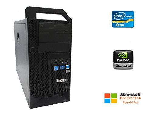 Lenovo D20 Desktop Workstation Intel Xeon 12 Core 2.93GHz 48GB DDR3 RAM 240GB Solid State Drive + 1TB Hard Drive NVIDIA Quadro 4000 Graphics CD/DVDRW Windows 10 Pro 64-bit