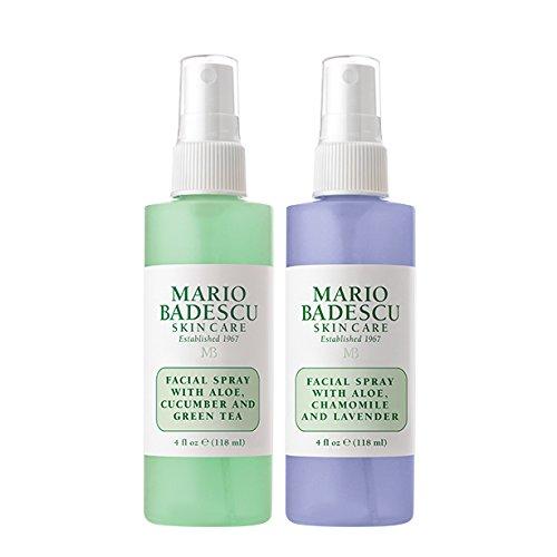 Mario Badescu Facial Spray with Lavender and Facial Spray with Cucumber Duo, 4 Oz.