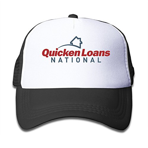 Black Youth Quicken Loans National Cartoon Adjustable Baseball Mesh Cap For Boys And Girls One Size