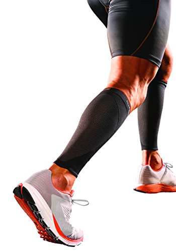 Shock Doctor SVR Recovery Compression Calf Sleeve, Black, Adult-Large by Shock Doctor