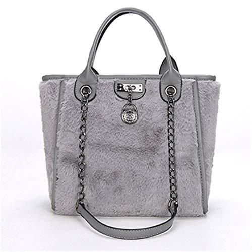 gris à pendentif métal avec en bandoulière Sac OdqpYO