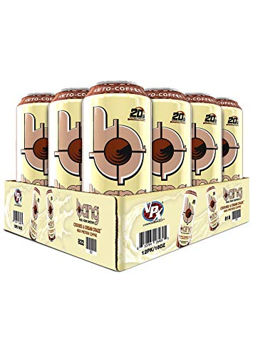 Bang Keto Coffee 16 Ounce Cans, Case of 12, Cookies and Cream Craze (20 Grams of Protein)