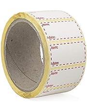Palucart® etiketten op rol voor diepvrieskast 500 etiketten 50 x 25 etiketten voor zelfklevende levensmiddelen