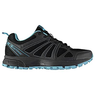 Karrimor Womens Ladies Caracal Trail Running Shoes Trainers Sneakers Pattern Black/Blue UK 4 (37)
