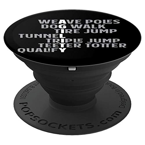 (Agility Obstacles Acrostic Poem for Dog Agility Handler PopSockets Grip and Stand for Phones and Tablets)