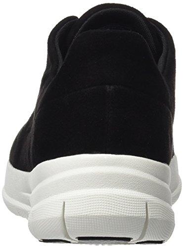 Black Hombre Baja Fitflop Pop Suede Sporty Sneaker Zapatilla Negro qYq8X5