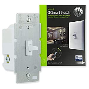 GE, White Enbrighten Z-Wave Plus Smart Light Switch, Works with Alexa, Google Assistant, SmartThings, Wink, Zwave Hub Required, Repeater/Range Extender, 3-Way Compatible, Toggle, 14292
