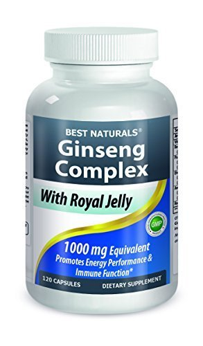 Ginseng Complex 1000 mg 120 Capsules By Best Naturals - Manufactured in a USA Based GMP Certified Facility and Third Party Tested for Purity. Guaranteed!! by Best Naturals