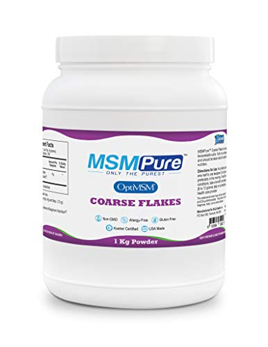 Kala Health MSMPure Coarse Powder Flakes, 2.2 lbs, Pure Sulfur Crystals Supplement for Joint Pain, Muscle Soreness, Inflammation Relief, Immune Support, Skin, Hair, Nails & Allergies, Made in USA