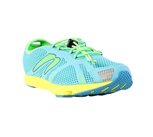 Women's Newton Running Tri Racer, Blue/Lime Green, 10 B