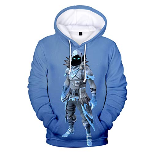 Fabby Unisex 5D Printed Hoodies Sweatshirt Pockets (X-Large, Evil Crow)
