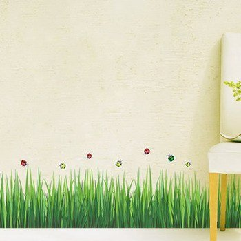 Buy Syga Green Grass Wall Sticker PVC Vinyl  Cm X  Cm X - Wall decals india
