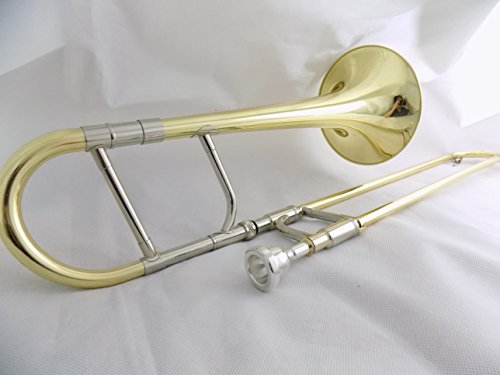Eb Alto Trombone Brass Body Lacquer with Wood Case Musical Instruments Professional