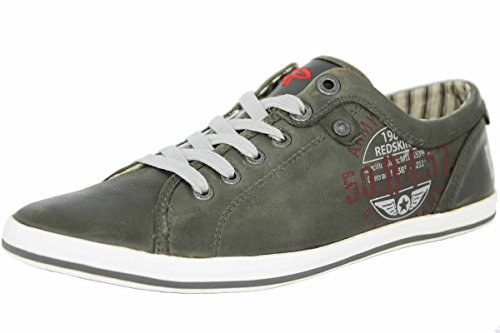 Redskins HABERON Chaussures Mode Sneaker Homme Gris Blanc Cuir REDSKINS