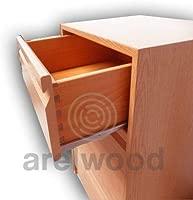 arelwood Cajonera Frente Postformado Haya Clara Montada 95x50-4 cajones (1 Cajón 8 cm)+(3 Cajones 16 cm) Alto 64,8 cm.