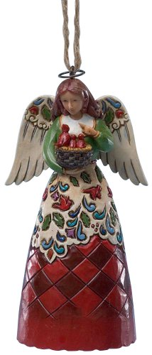 Christmas Angel With Cardinals Ornament