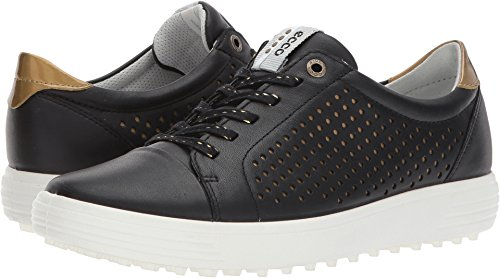 ECCO Women's Casual Hybrid Perforated Golf-Shoe, Black, 37 EU/6-6.5 M US