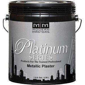 Modern Masters PSMP712 1 Gallon Platinum Series Tungsten Metallic Plaster