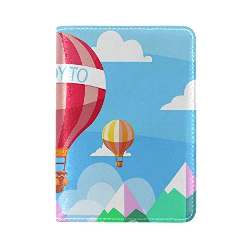Reisepasshülle Air Travel COOSUN für One Leder Balloons Pocket Hot 5B5Iwf