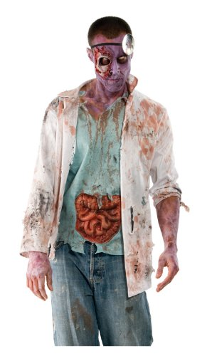 Inspired by The Walking Dead Adult Zombie Doctor Costume , Multicolored, (Zombie Dr Costume)