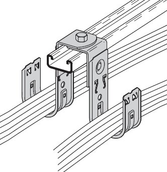 BCH64-RB - B-Line Angle Bracket Cable Fastener; 4 Hook, Pack of - Bracket Cooper B-line