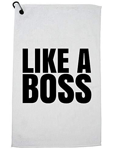 (Hollywood Thread Like A Boss - Classic Large Print Golf Towel with Carabiner Clip)