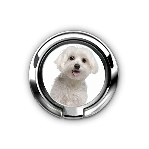 Phone Ring: Finger Ring Stand Ultra-Thin Swivel Ring Buckle Phone Grip Kickstand Cell Phone Stand for Universal Smartphone iPhoneX 8 Plus 7 7 Plus /6s 6 Plus - Love White Maltese Puppy Dog