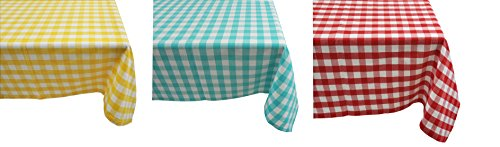 Yourtablecloth 100% Cotton Checkered Buffalo Plaid Tablecloth –for Home, Restaurants, Cafés – Be it for Everyday Dinner Picnic or Occasions like Thanksgiving 60 x 120 Rectangle/Oblong Yellow and White by Yourtablecloth (Image #2)