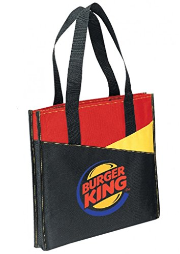 DDI 1902340 Tri Color Poly Tote Bag - Black44; Red and Yellow by DDI