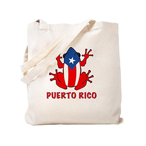 CafePress Puerto Rico - PR - Coqui Natural Canvas Tote Bag, Cloth Shopping Bag