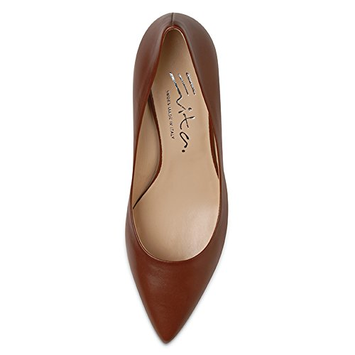 Evita Shoes Claudia Damen Pumps Glattleder Braun