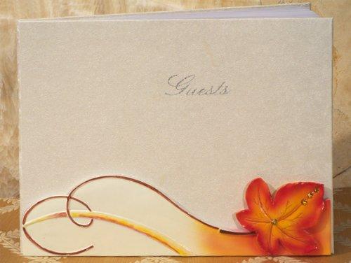 Fall / Autumn Themed Wedding Guest Book -