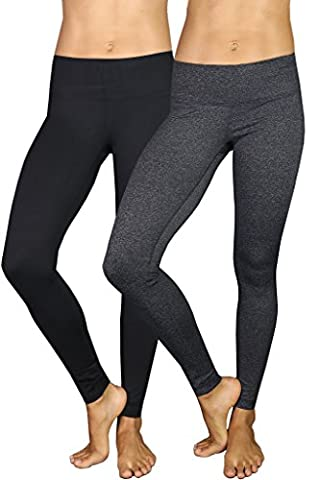 90 Degree by Reflex Power Flex Yoga Pants - Black and Heather Charcoal 2 Pack Large - Orange Womens Performance Jacket