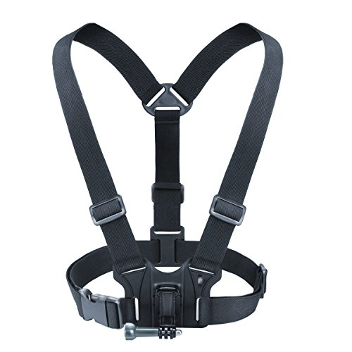 - USA GEAR Camera Chest Strap Harness Mount with Tripod Adapter - Provides Custom Shooting Angles - Compatible with Canon PowerShot, Nikon Coolpix and More Point-and-Shoot Cameras or Action Cameras