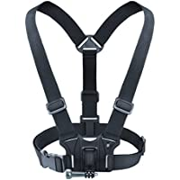 Chest Harness Action Camera Mount with J Hook and Tripod Adapter by USA Gear - Works With GoPro Hero4 Session , HTC RE Camera , Ion Air Pro 3 and More