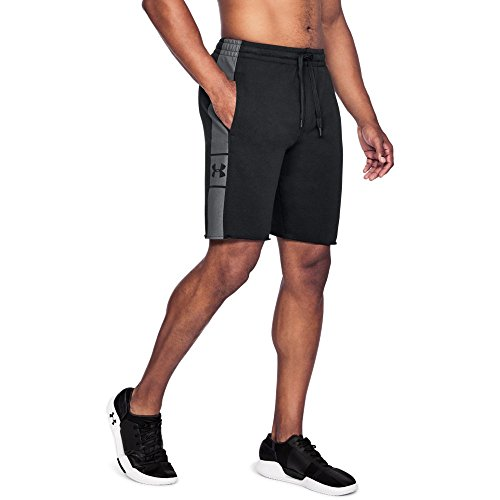 Under Armour Men's EZ Knit Shorts , Black (001)/Graphite, Large ()