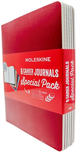 Moleskine Cahier Journals, 120 Ruled Pages, 7.5