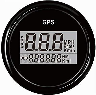 Samdo 52mm Digital GPS Speedometer For Car Marine Boat Motorcycle With Backlight 12V/24V