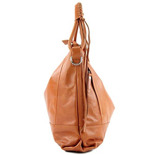 porter Orangebraun Italy femme à à pour Made l'épaule Sac wXxqZwp