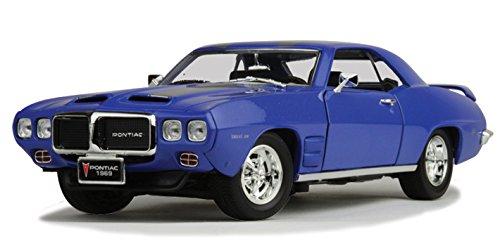 Road Signature 1969 Pontiac Firebird, Blue 92368 - 1/18 Scale Diecast Model Toy Car